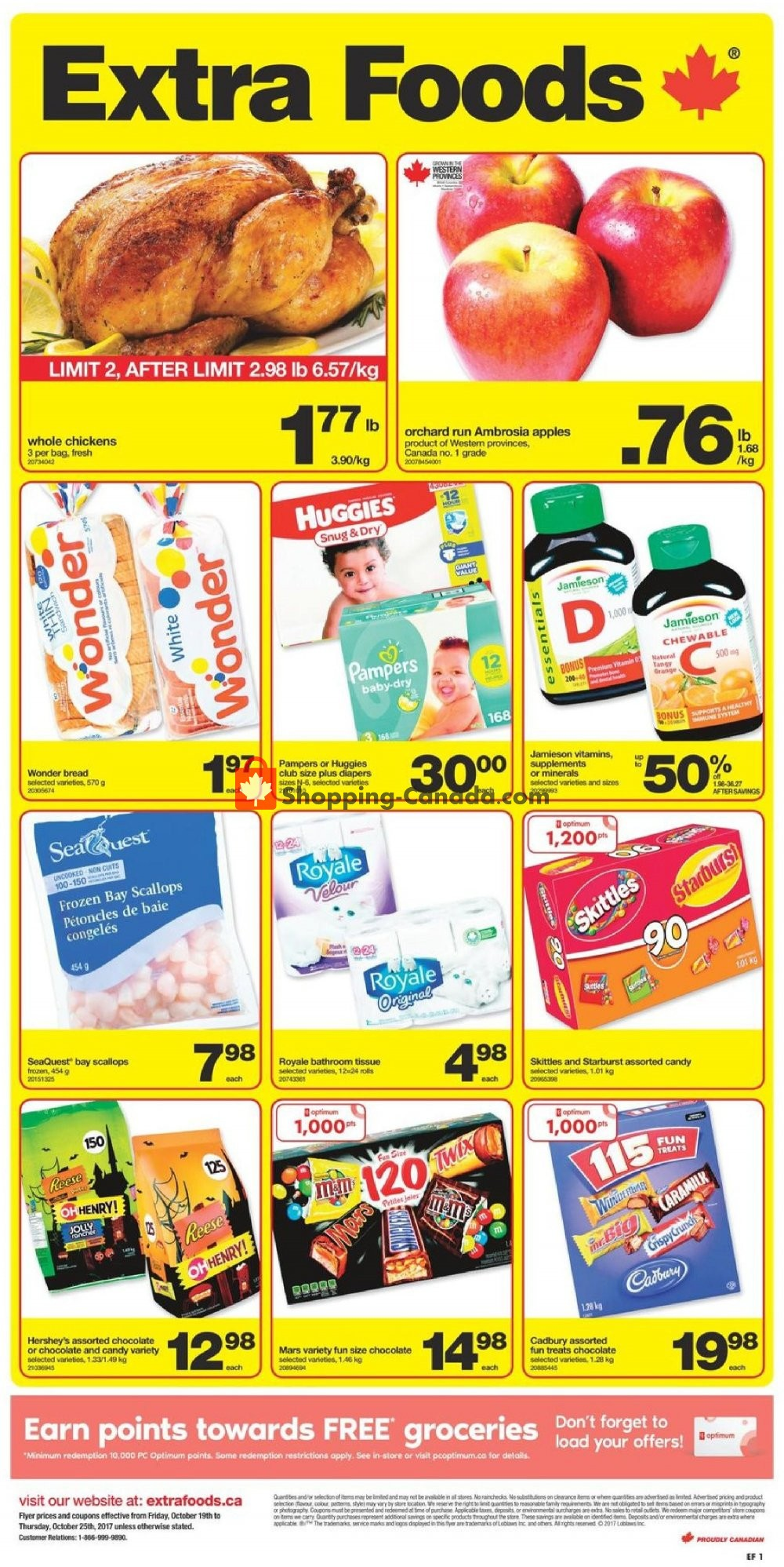Flyer Extra Foods Canada - from Friday October 19, 2018 to Thursday October 25, 2018