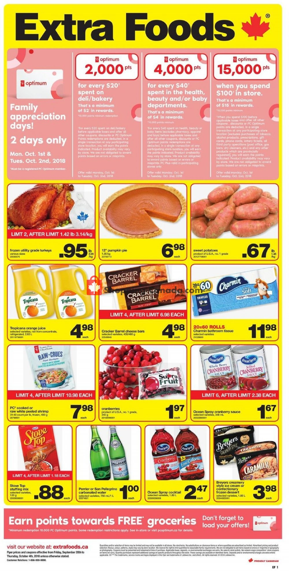 Flyer Extra Foods Canada - from Friday September 28, 2018 to Thursday October 4, 2018
