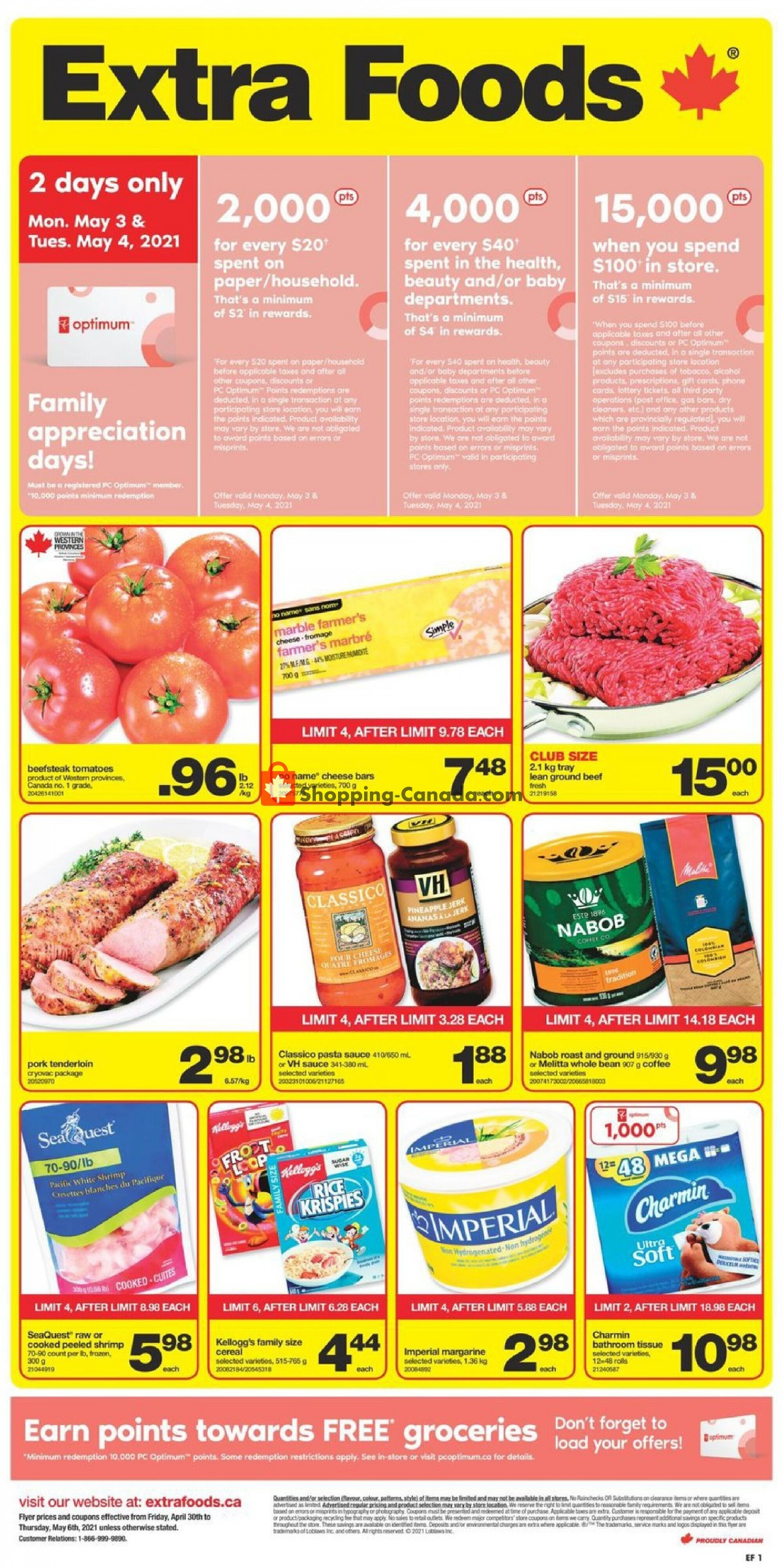 Flyer Extra Foods Canada - from Friday April 30, 2021 to Thursday May 6, 2021