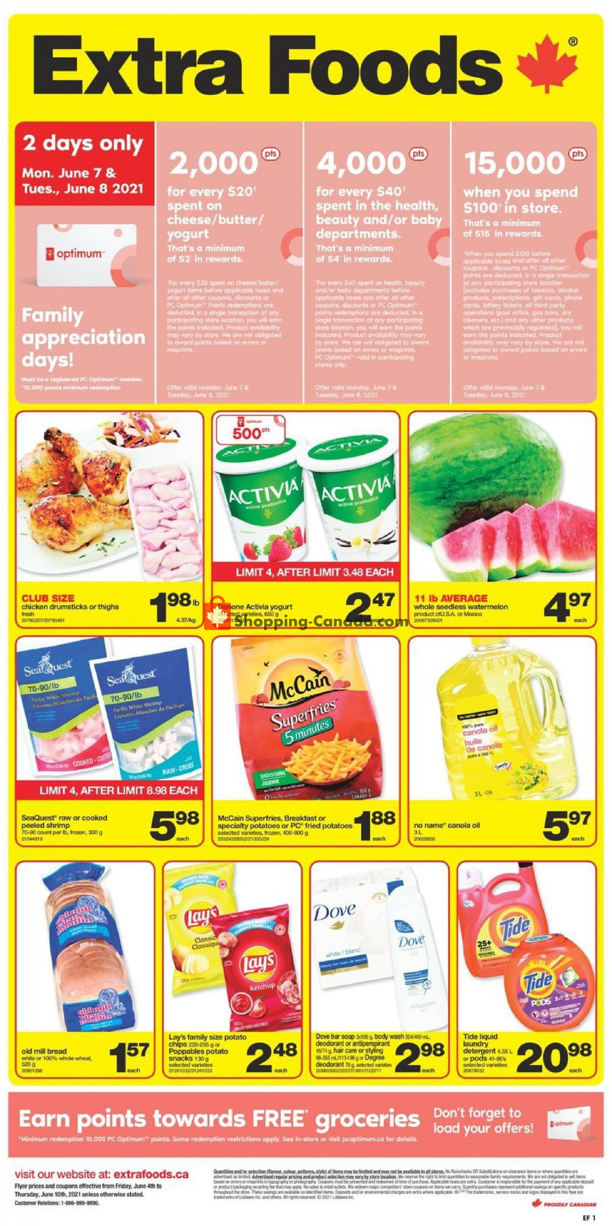 Flyer Extra Foods Canada - from Friday June 4, 2021 to Thursday June 10, 2021