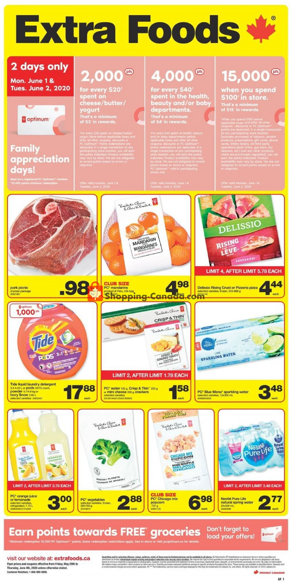 Flyer Extra Foods Canada - from Friday May 29, 2020 to Thursday June 4, 2020