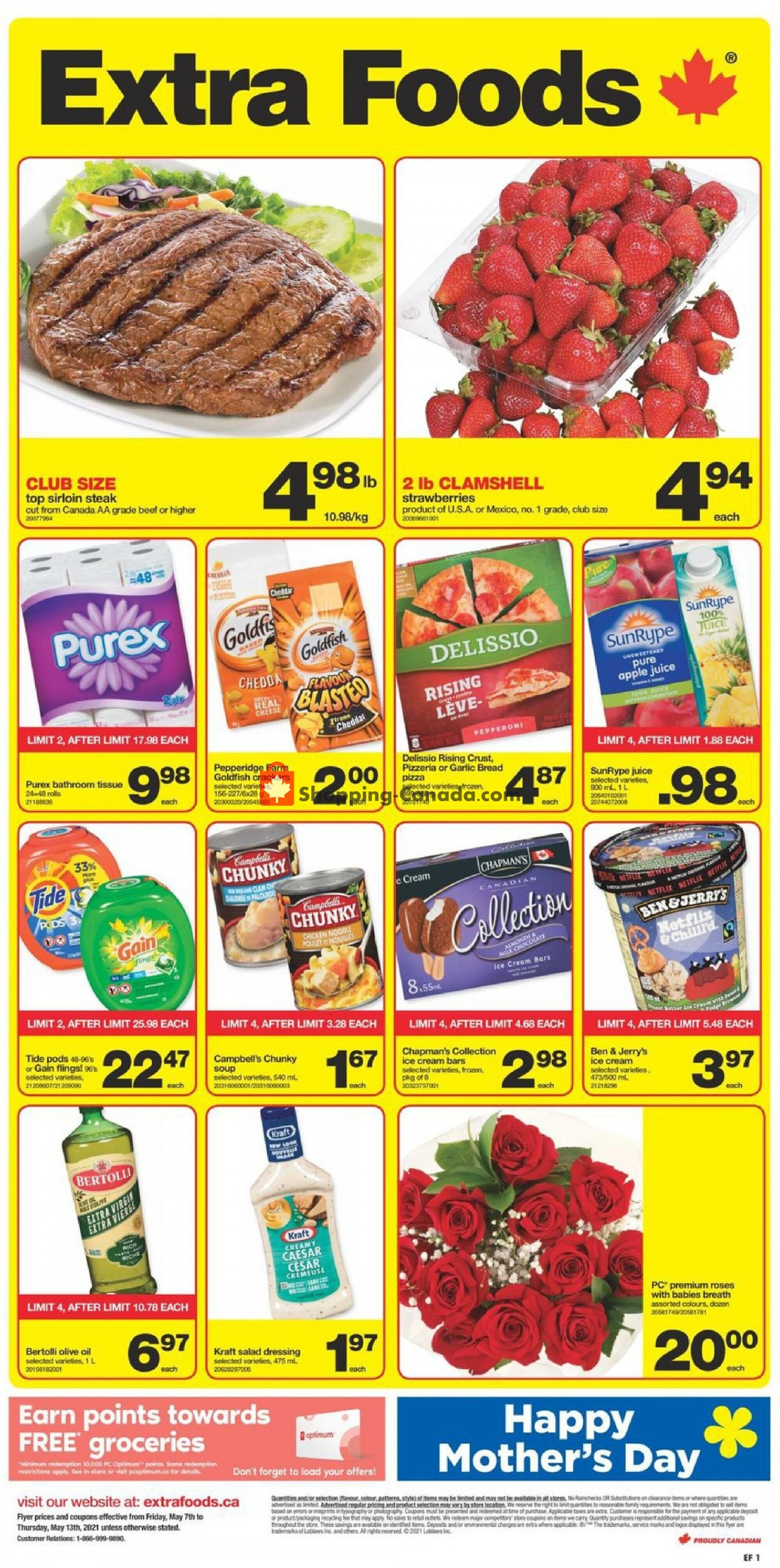 Flyer Extra Foods Canada - from Friday May 7, 2021 to Thursday May 13, 2021