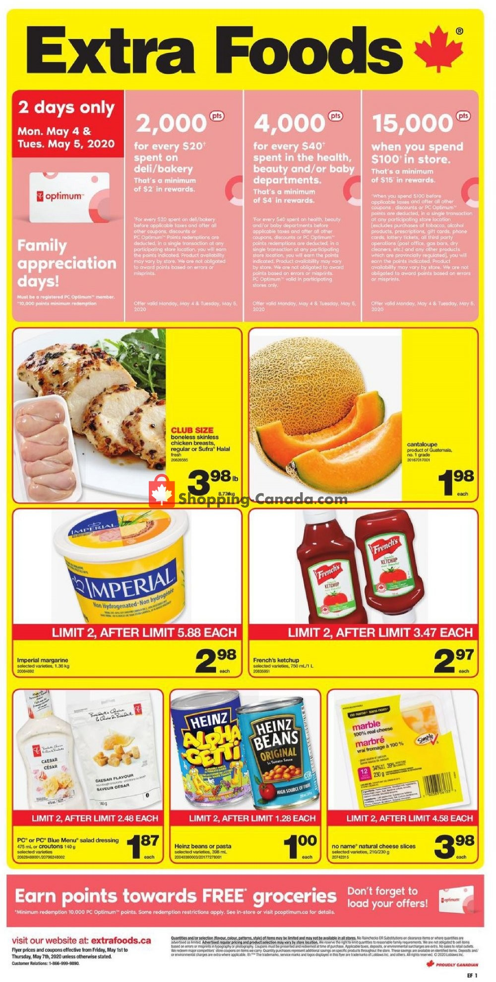 Flyer Extra Foods Canada - from Friday May 1, 2020 to Thursday May 7, 2020