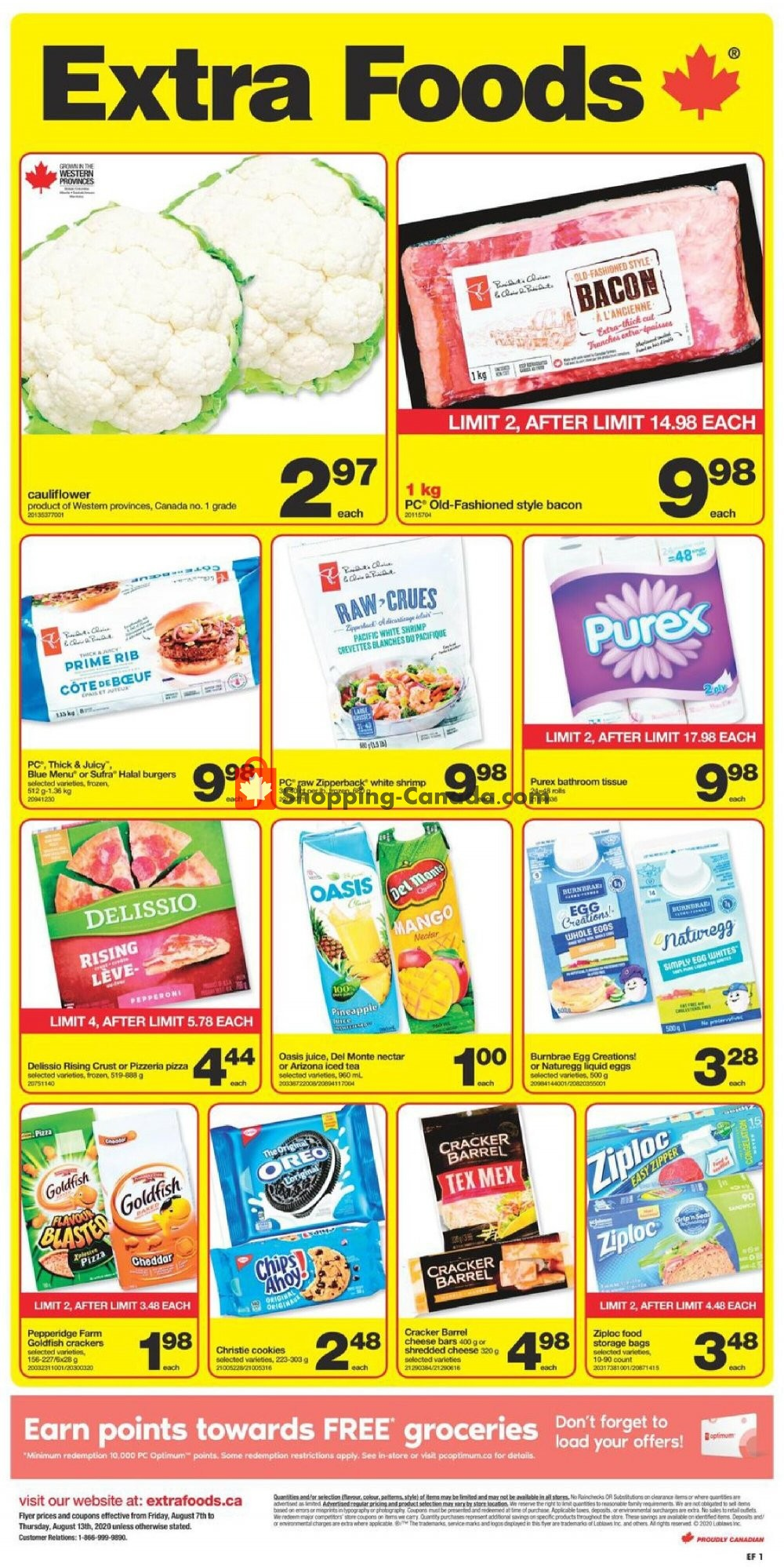 Flyer Extra Foods Canada - from Friday August 7, 2020 to Thursday August 13, 2020