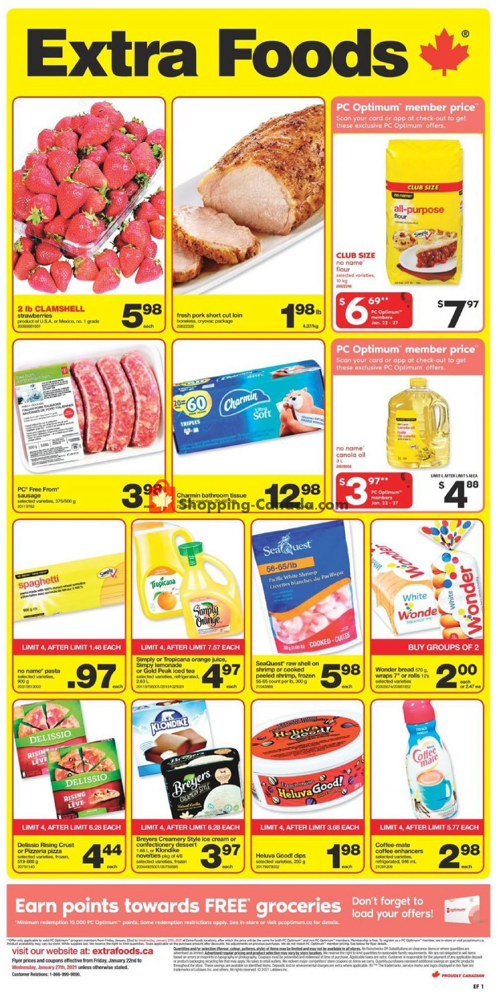 Flyer Extra Foods Canada - from Friday January 22, 2021 to Wednesday January 27, 2021