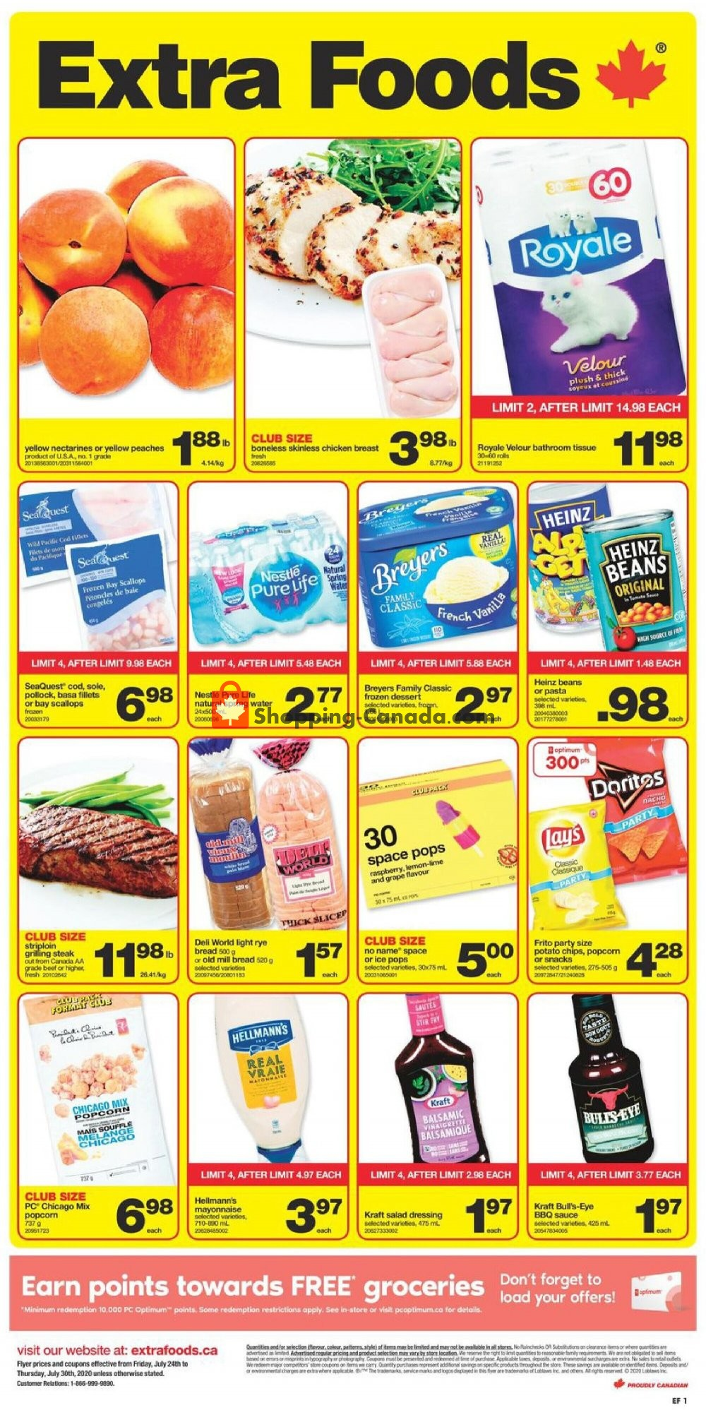 Flyer Extra Foods Canada - from Friday July 24, 2020 to Thursday July 30, 2020