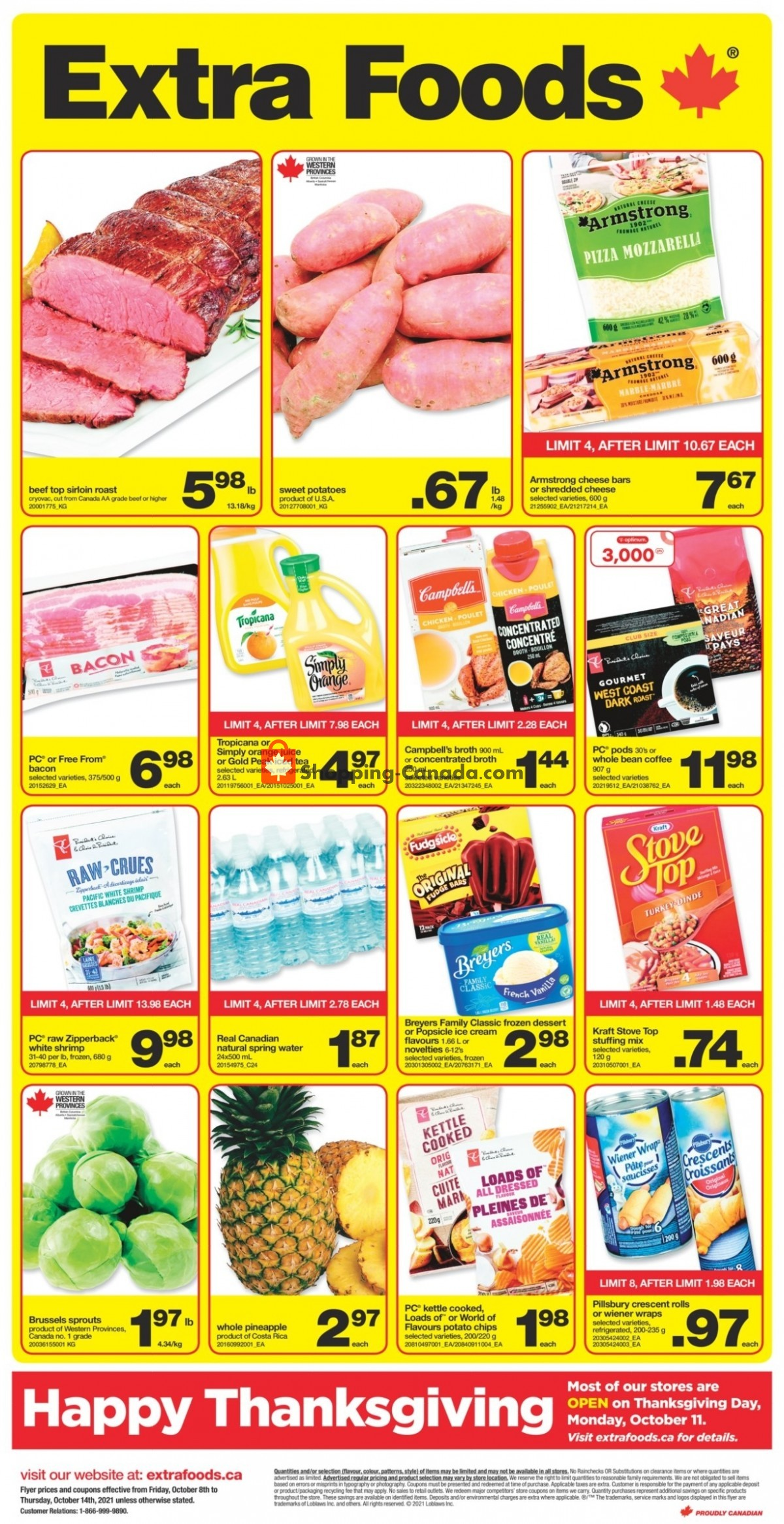 Flyer Extra Foods Canada - from Friday October 8, 2021 to Thursday October 14, 2021