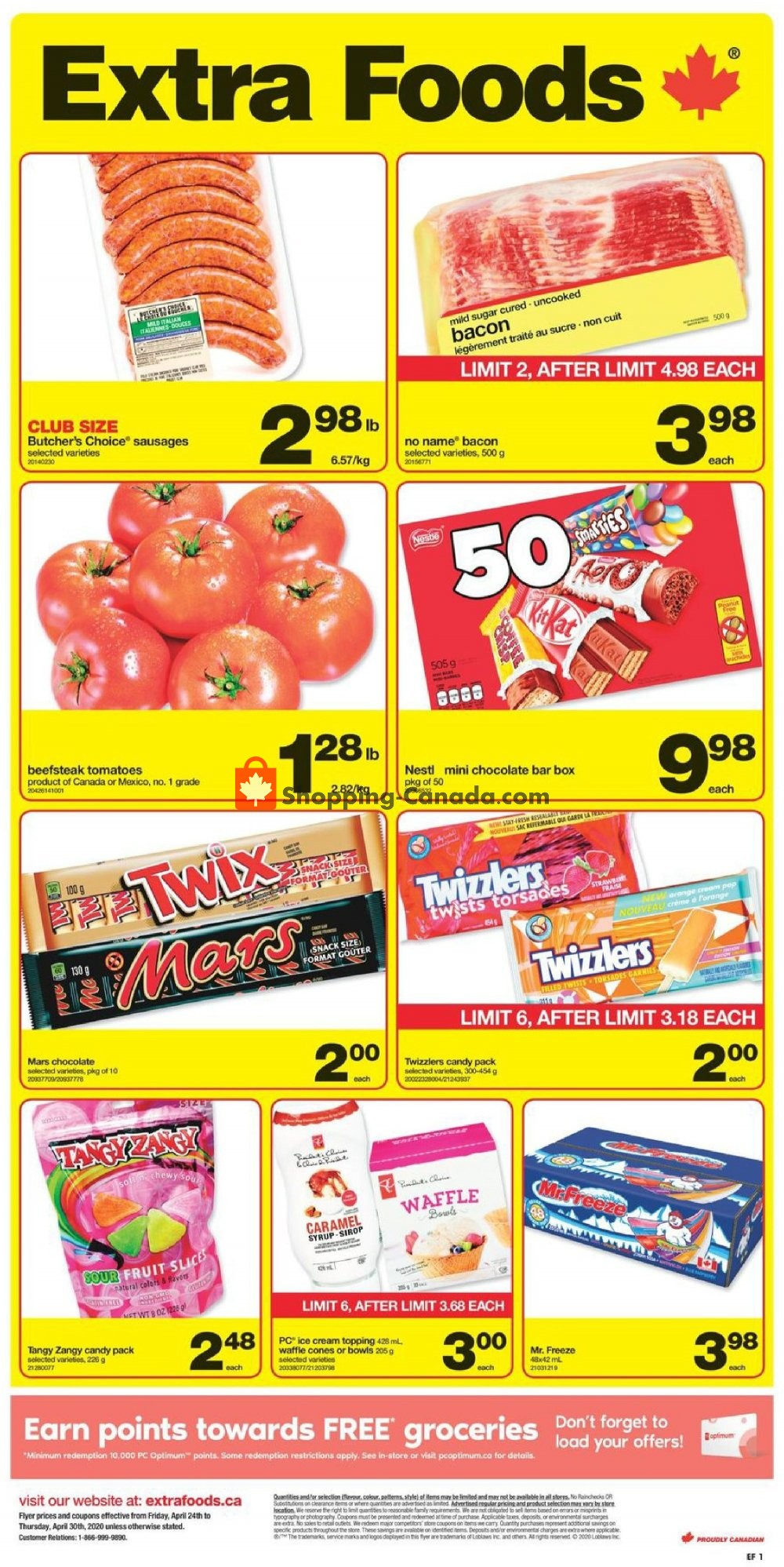 Flyer Extra Foods Canada - from Friday April 24, 2020 to Thursday April 30, 2020