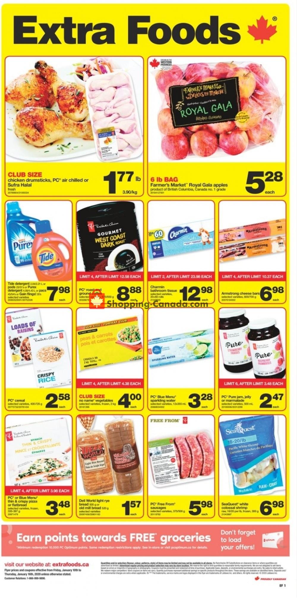 Flyer Extra Foods Canada - from Friday January 10, 2020 to Thursday January 16, 2020