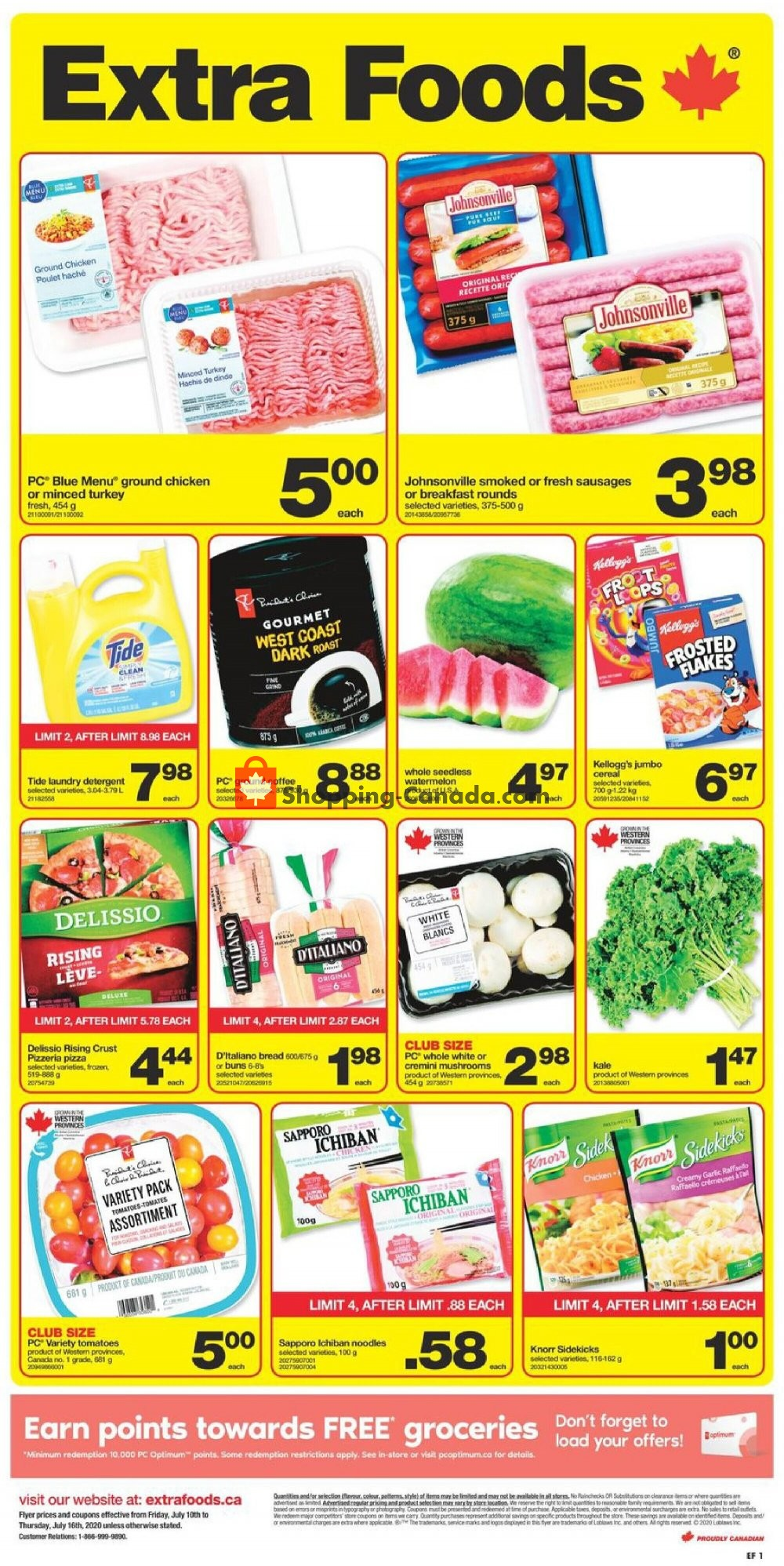 Flyer Extra Foods Canada - from Friday July 10, 2020 to Thursday July 16, 2020