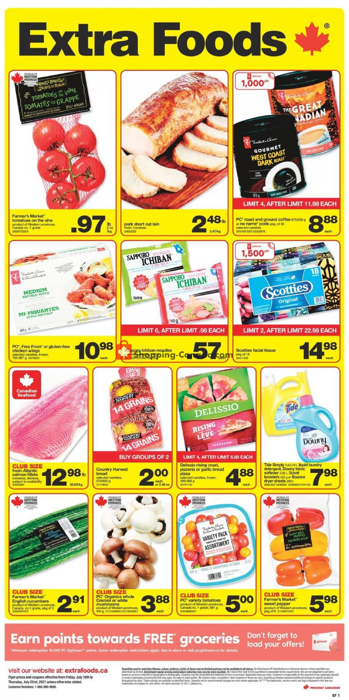 Flyer Extra Foods Canada - from Friday July 16, 2021 to Thursday July 22, 2021