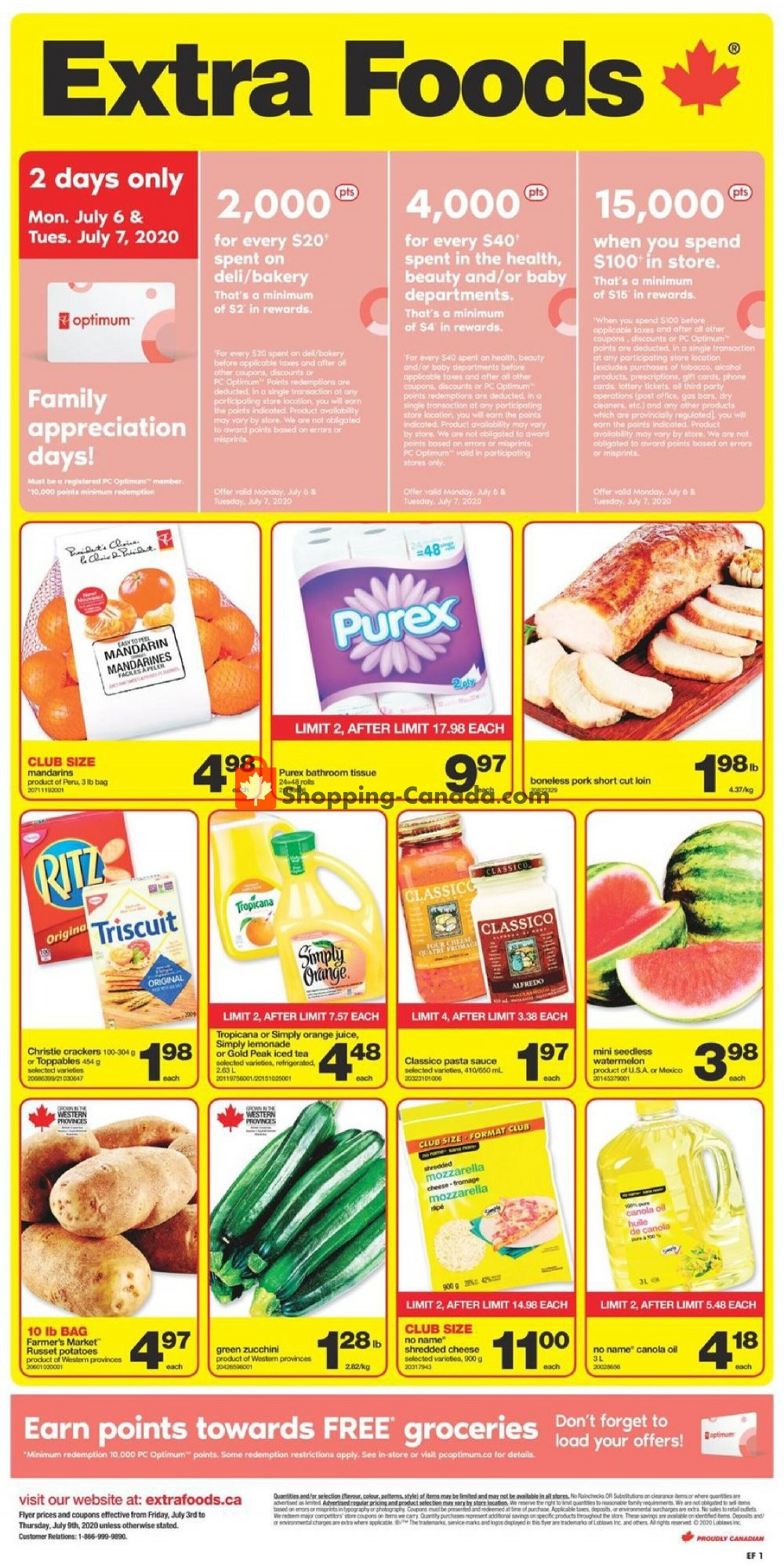 Flyer Extra Foods Canada - from Friday July 3, 2020 to Thursday July 9, 2020
