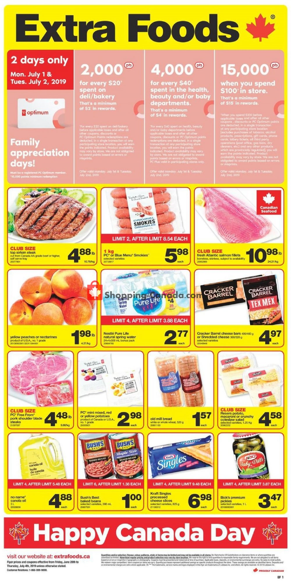 Flyer Extra Foods Canada - from Friday June 28, 2019 to Thursday July 4, 2019
