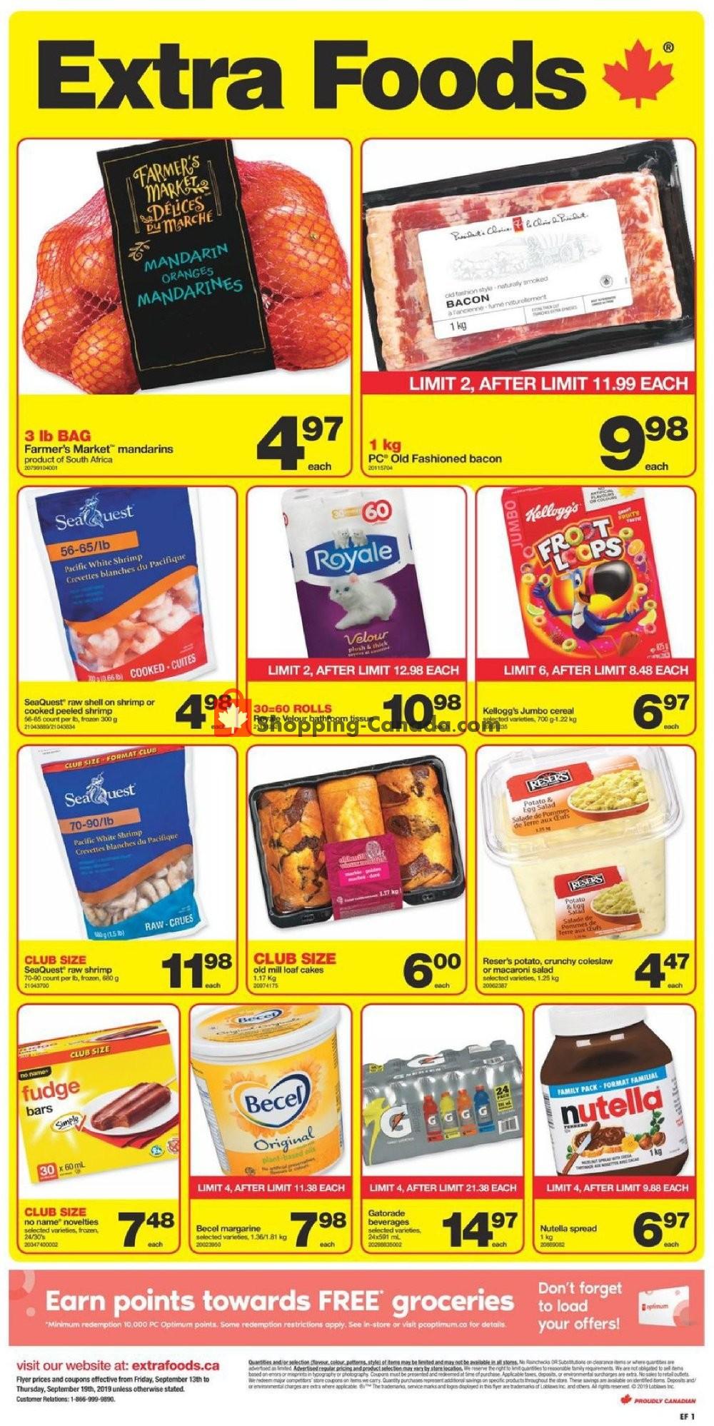 Flyer Extra Foods Canada - from Friday September 13, 2019 to Thursday September 19, 2019