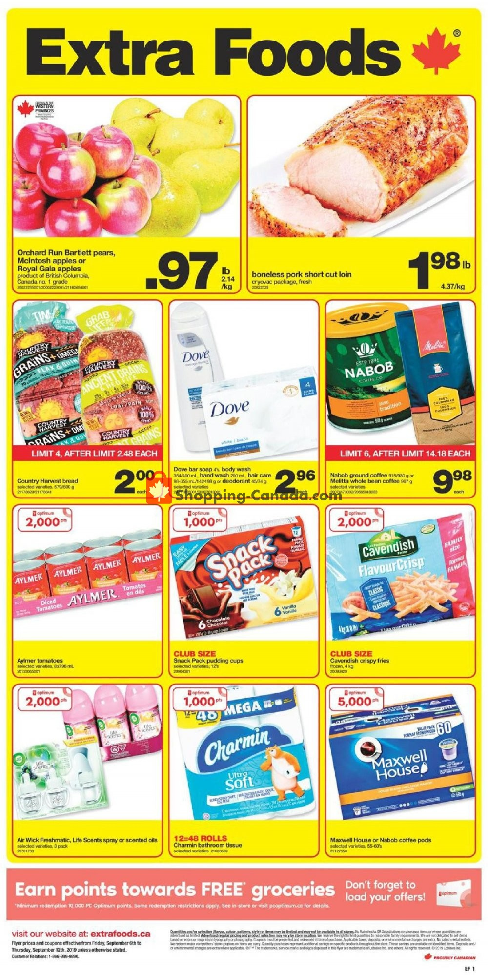 Flyer Extra Foods Canada - from Friday September 6, 2019 to Thursday September 12, 2019