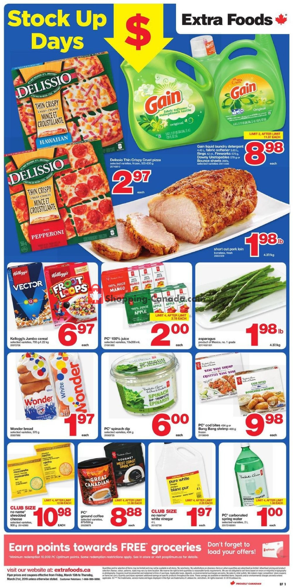 Flyer Extra Foods Canada - from Friday March 15, 2019 to Thursday March 21, 2019