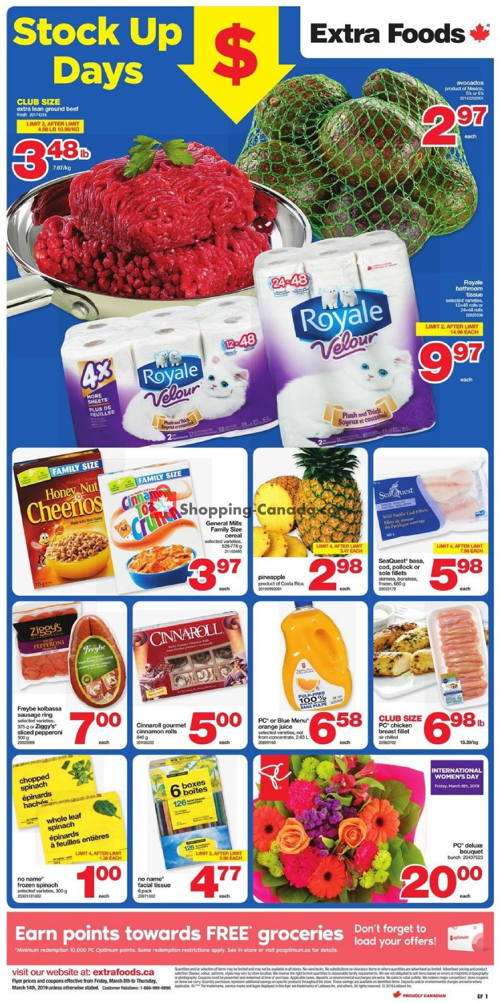 Flyer Extra Foods Canada - from Friday March 8, 2019 to Thursday March 14, 2019