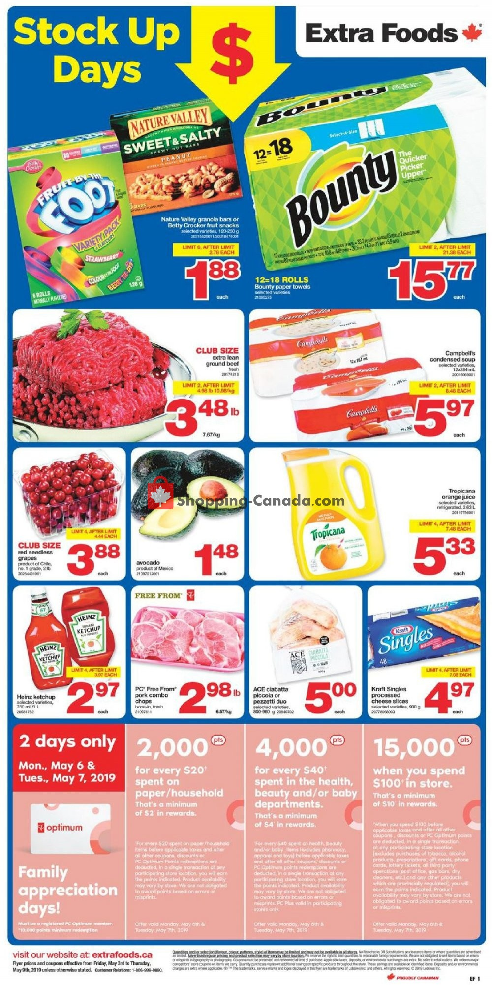 Flyer Extra Foods Canada - from Friday May 3, 2019 to Thursday May 9, 2019