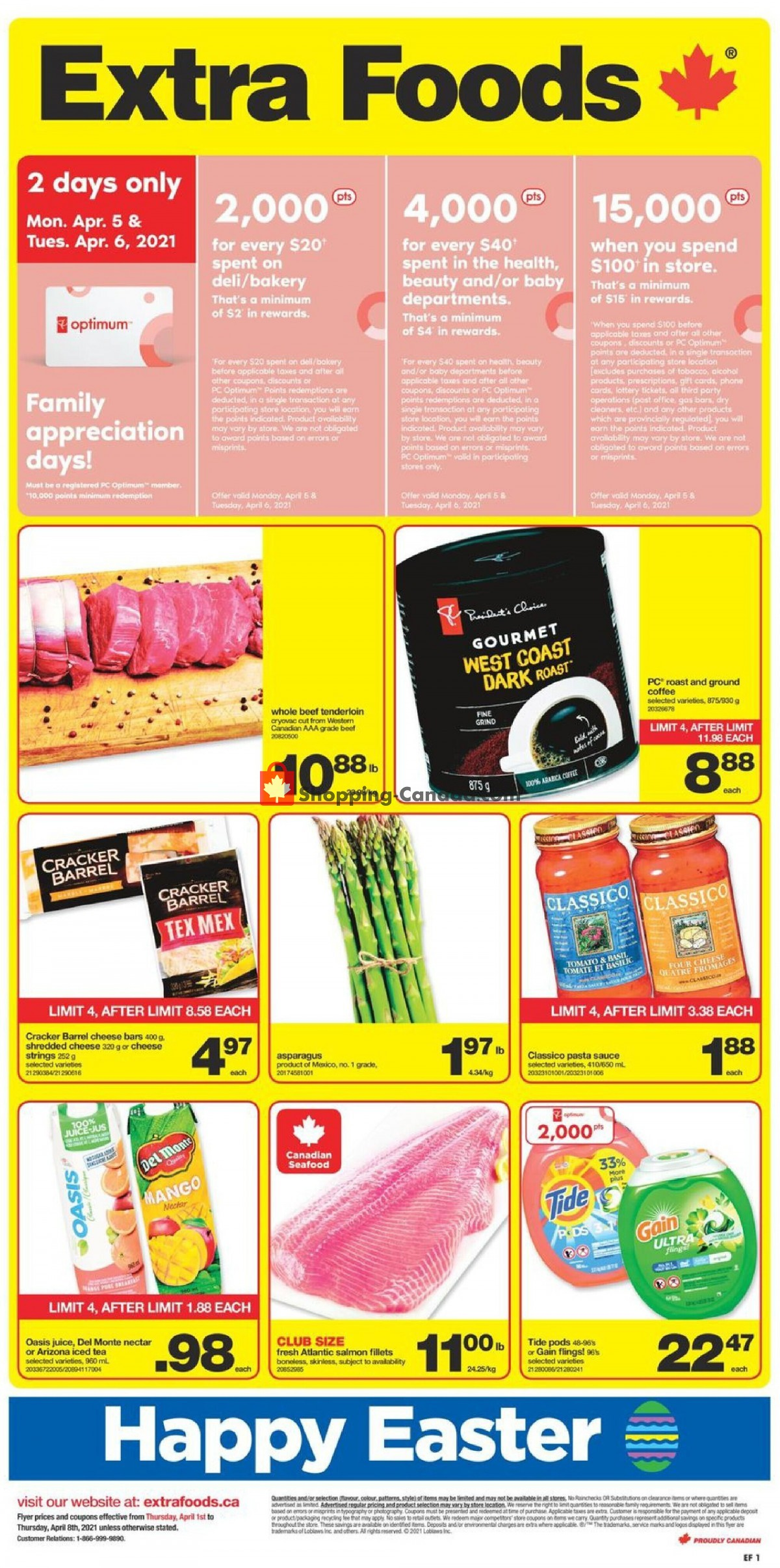 Flyer Extra Foods Canada - from Thursday April 1, 2021 to Thursday April 8, 2021