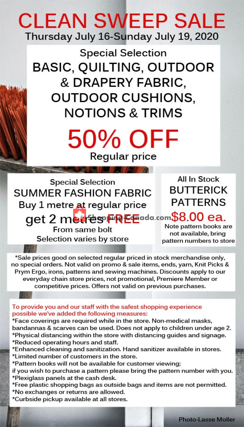 Flyer Fabricland Canada - from Thursday July 16, 2020 to Sunday July 19, 2020