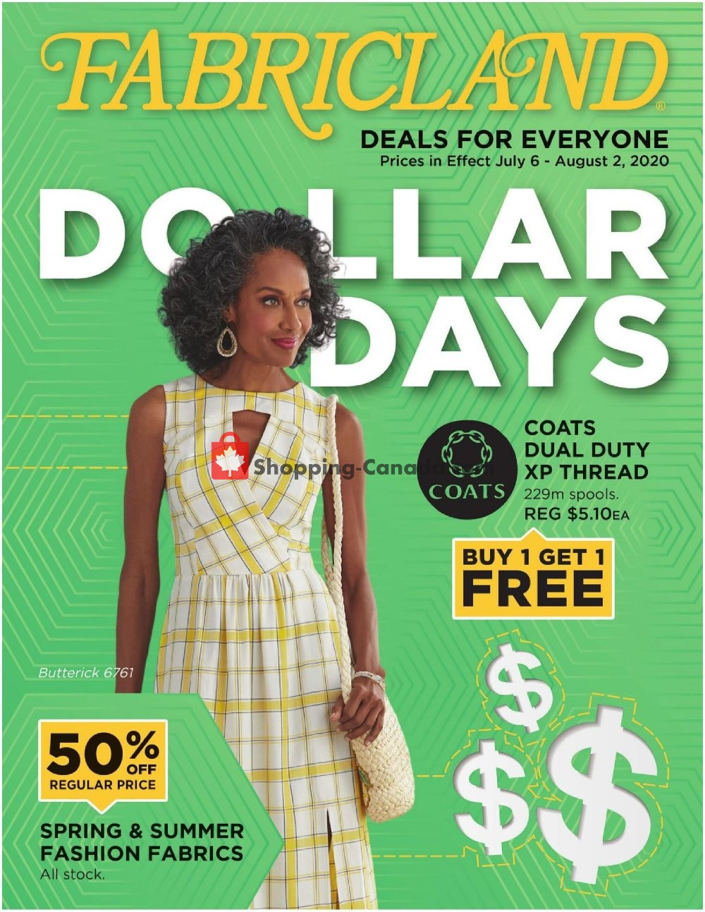 Flyer Fabricland Canada - from Monday July 6, 2020 to Sunday August 2, 2020