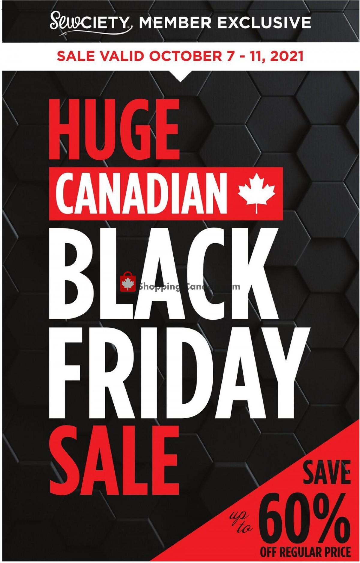 Flyer Fabricland Canada - from Thursday October 7, 2021 to Monday October 11, 2021