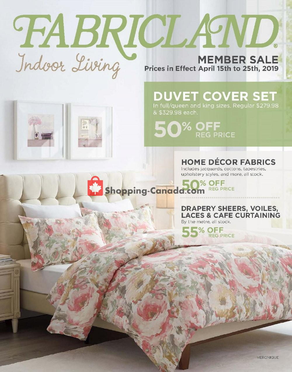 Flyer Fabricland Canada - from Monday April 15, 2019 to Thursday April 25, 2019