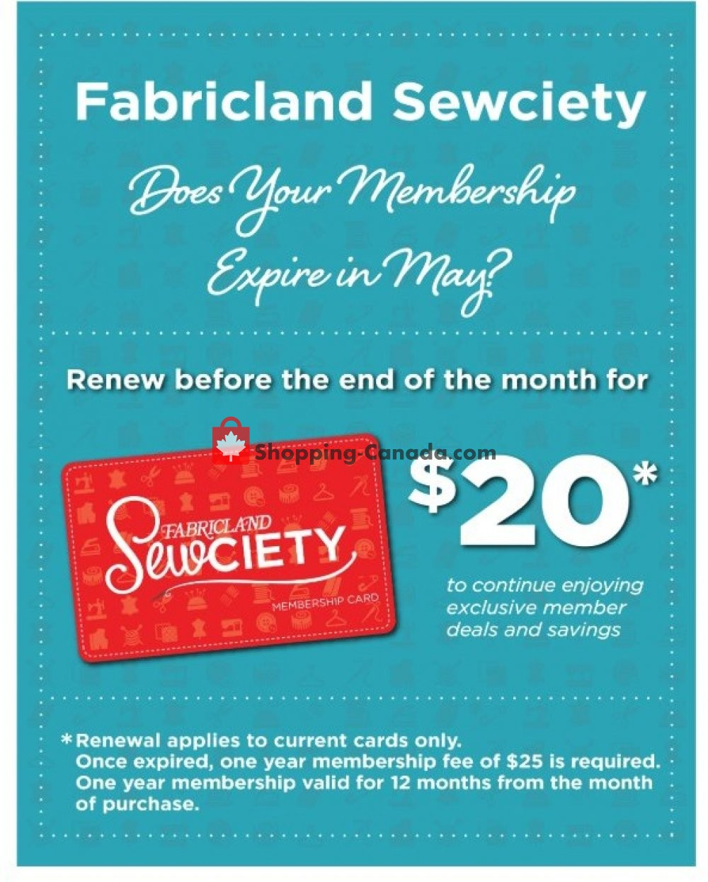 Flyer Fabricland Canada - from Thursday May 2, 2019 to Friday May 31, 2019
