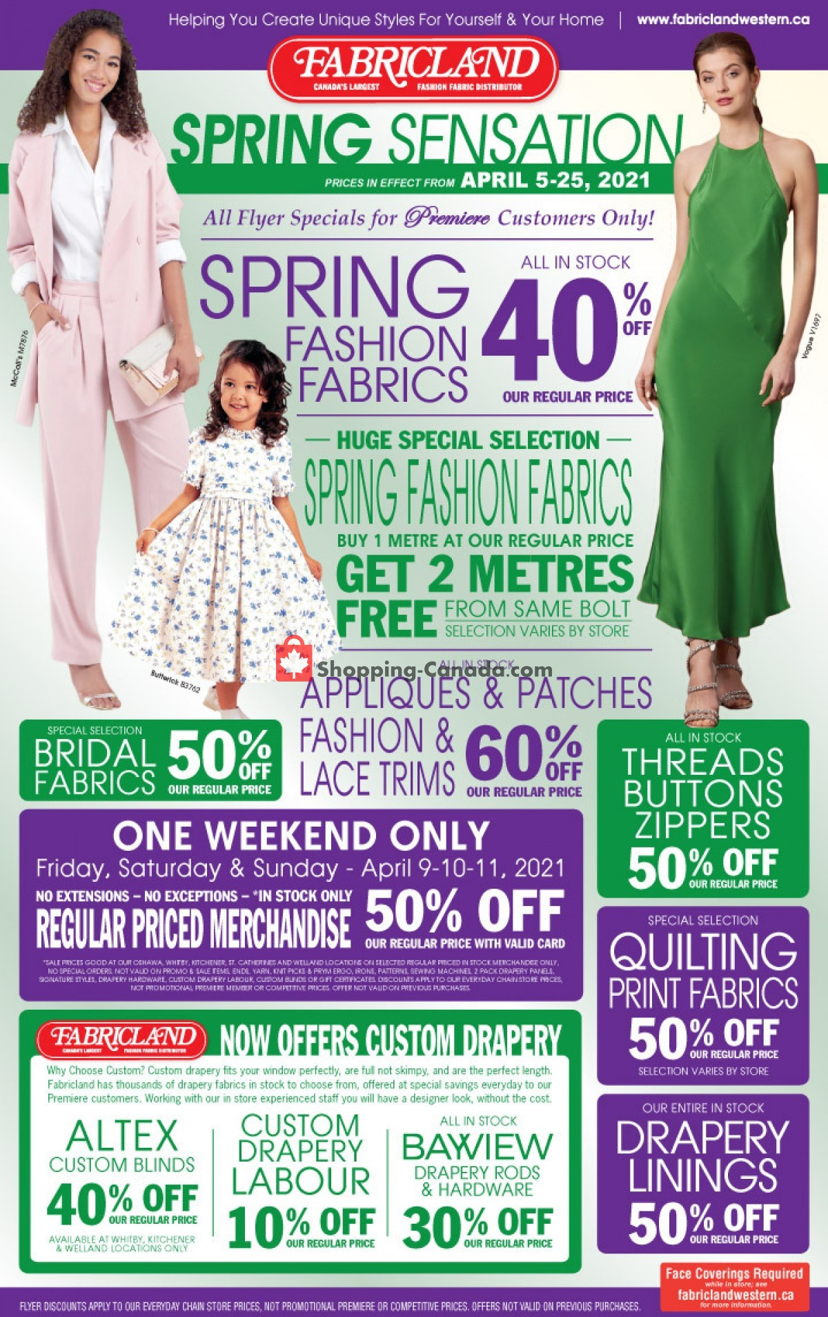 Flyer Fabricland Canada - from Monday April 5, 2021 to Sunday April 25, 2021