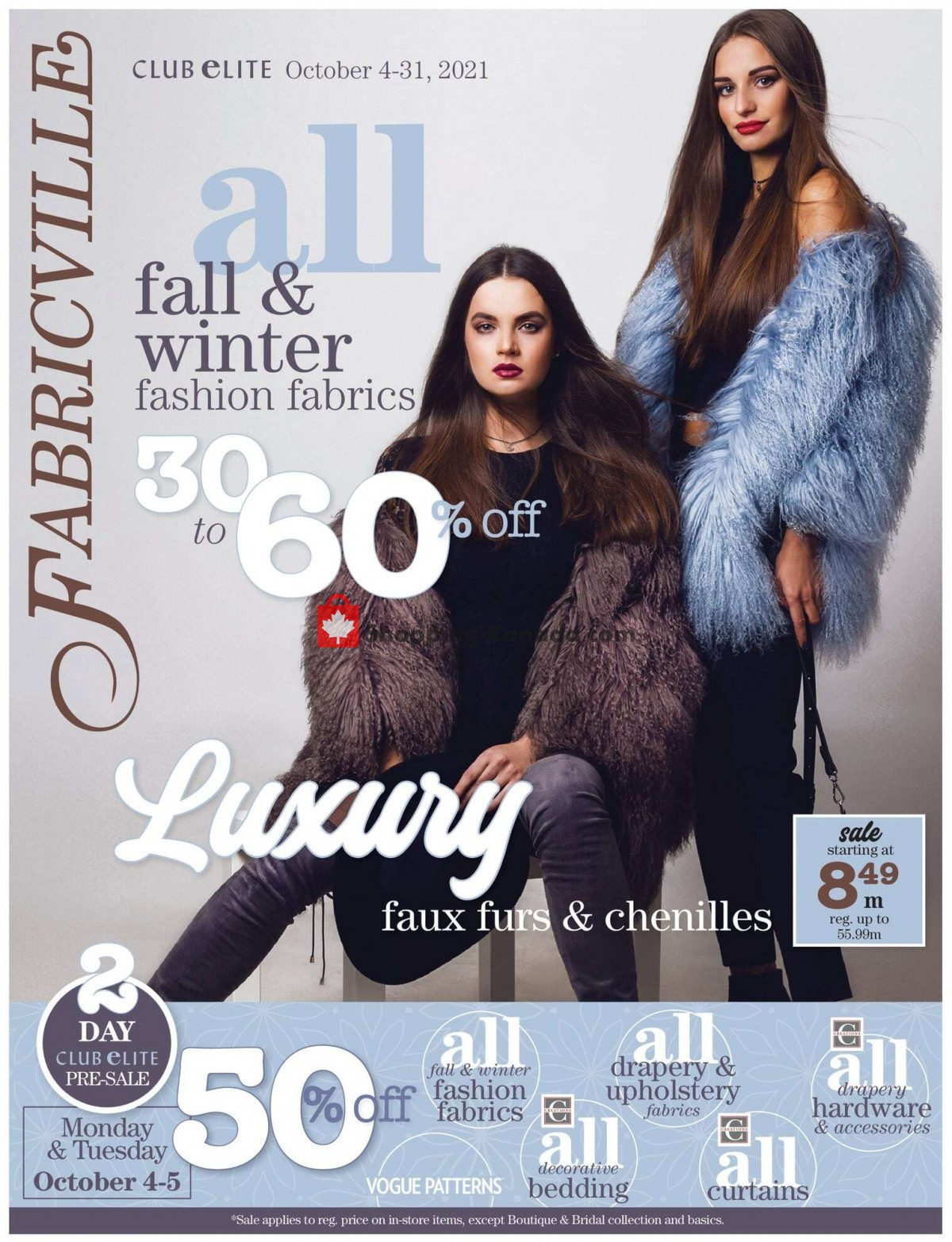 Flyer Fabricville Canada - from Monday October 4, 2021 to Sunday October 31, 2021