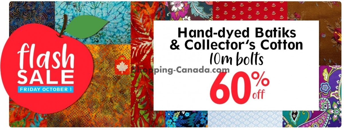 Flyer Fabricville Canada - from Friday October 1, 2021 to Friday October 1, 2021