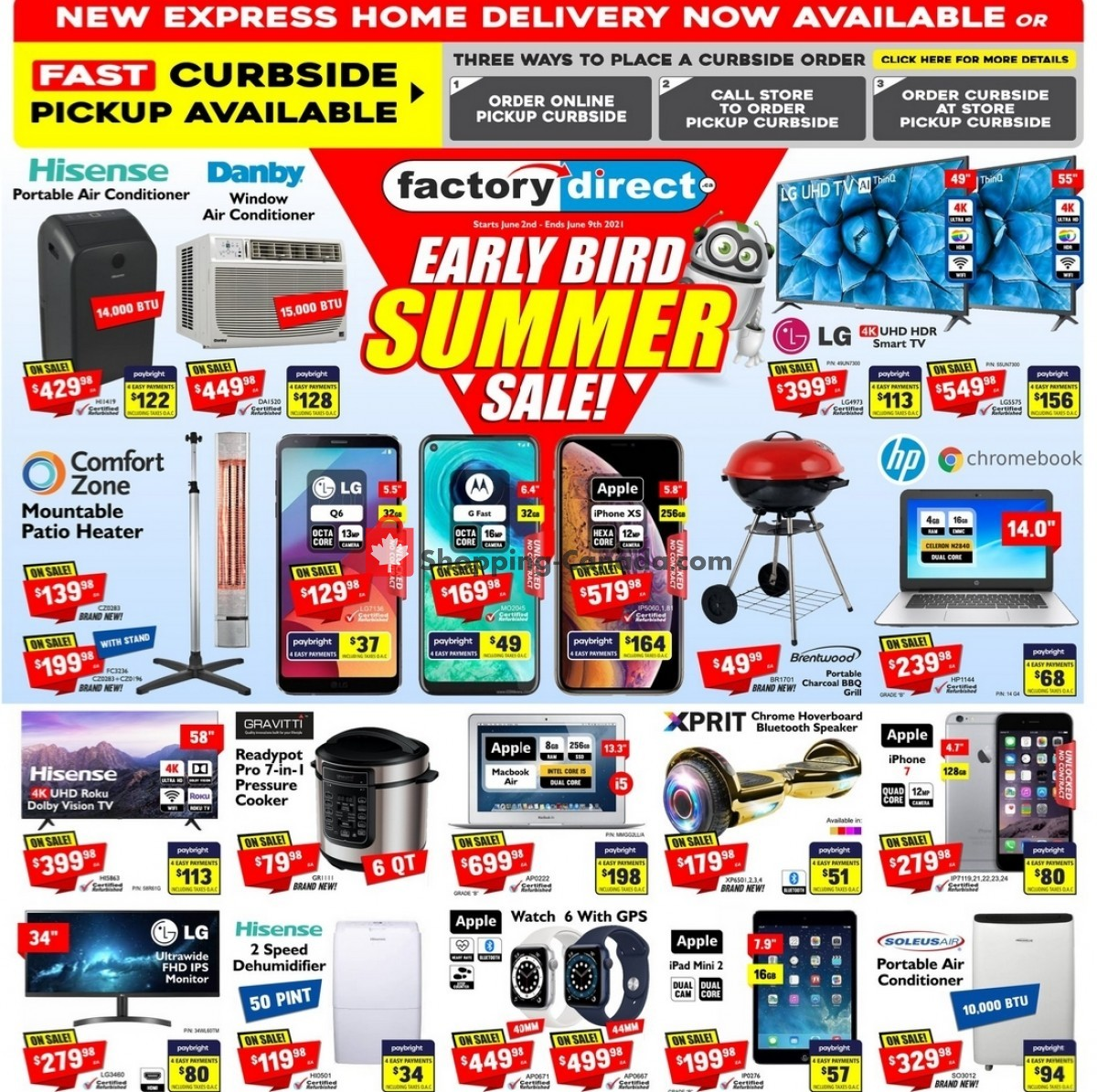 Flyer Factorydirect.ca Canada - from Wednesday June 2, 2021 to Thursday June 10, 2021
