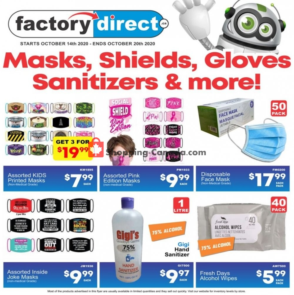 Flyer Factorydirect.ca Canada - from Wednesday October 14, 2020 to Tuesday October 20, 2020
