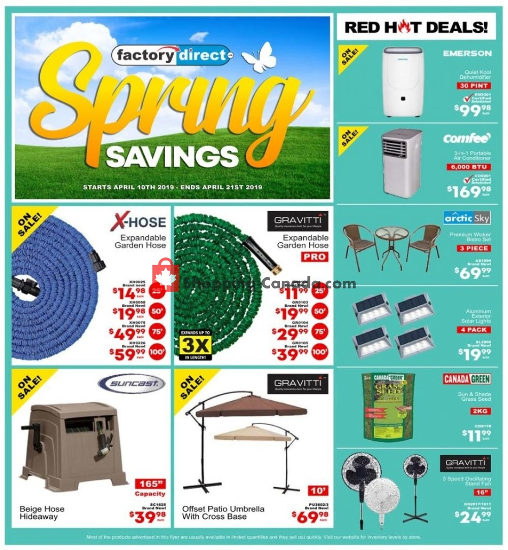 Flyer Factorydirect.ca Canada - from Wednesday April 10, 2019 to Sunday April 21, 2019