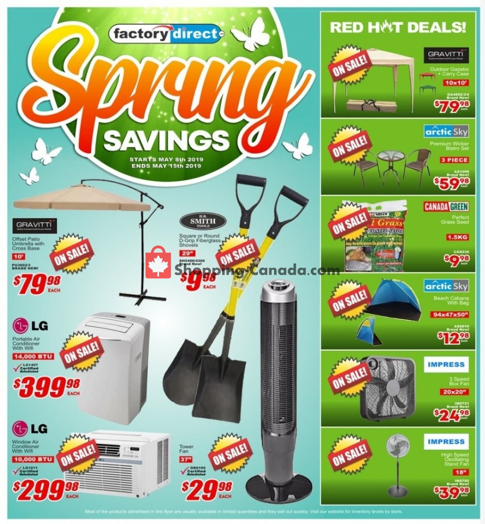 Flyer Factorydirect.ca Canada - from Wednesday May 8, 2019 to Wednesday May 15, 2019