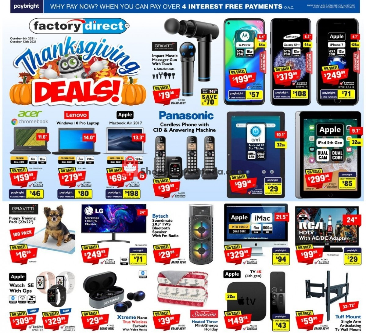 Flyer Factorydirect.ca Canada - from Wednesday October 6, 2021 to Wednesday October 13, 2021