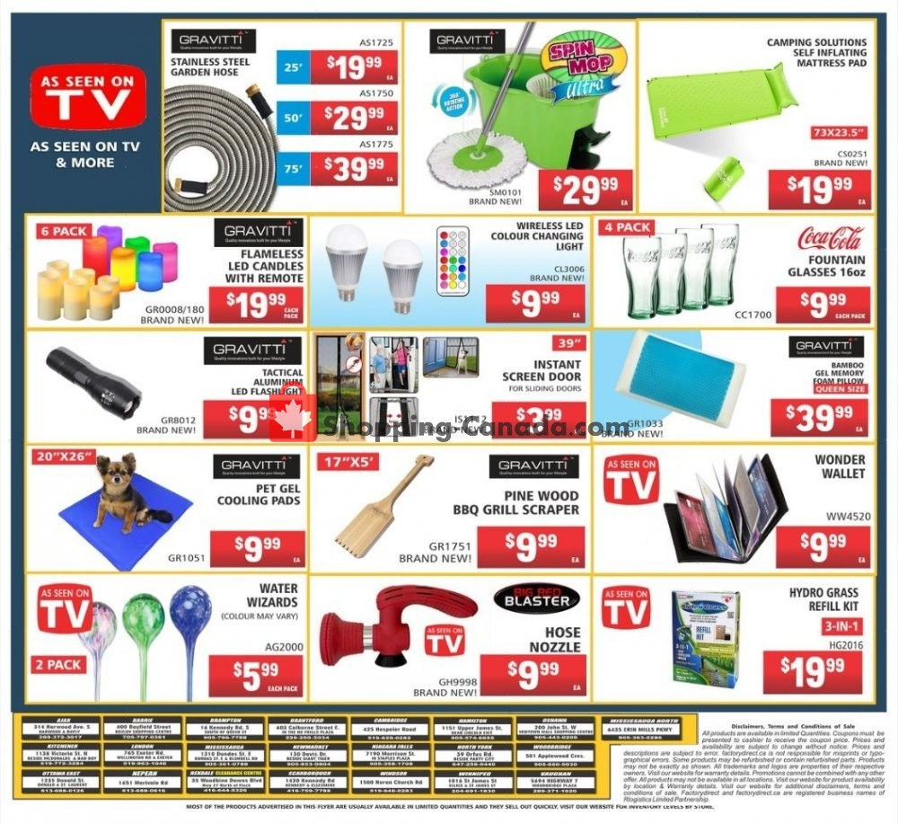 Flyer Factorydirect.ca Canada - from Wednesday July 17, 2019 to Wednesday July 24, 2019