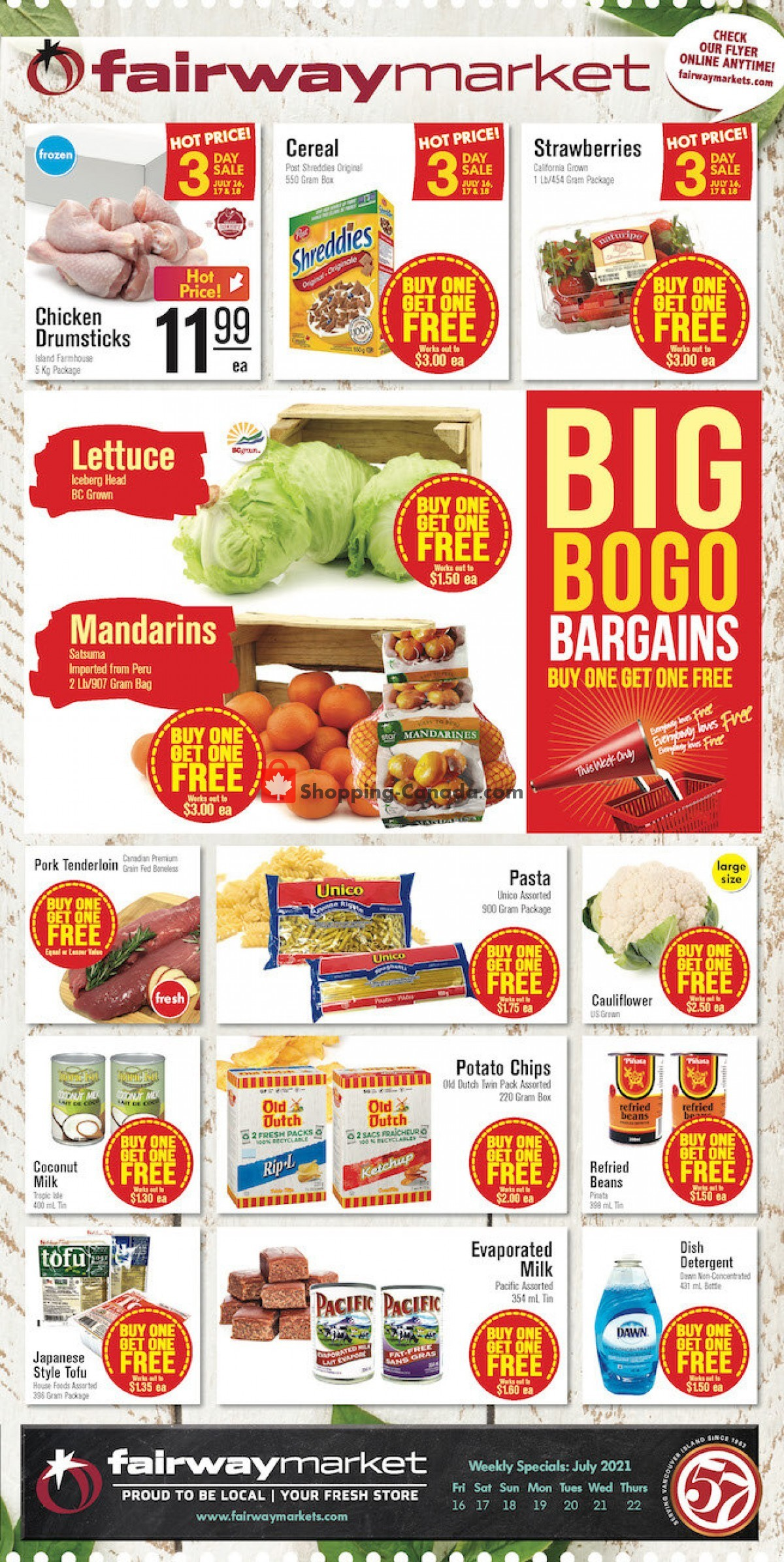 Flyer Fairway Market Canada - from Friday July 16, 2021 to Thursday July 22, 2021