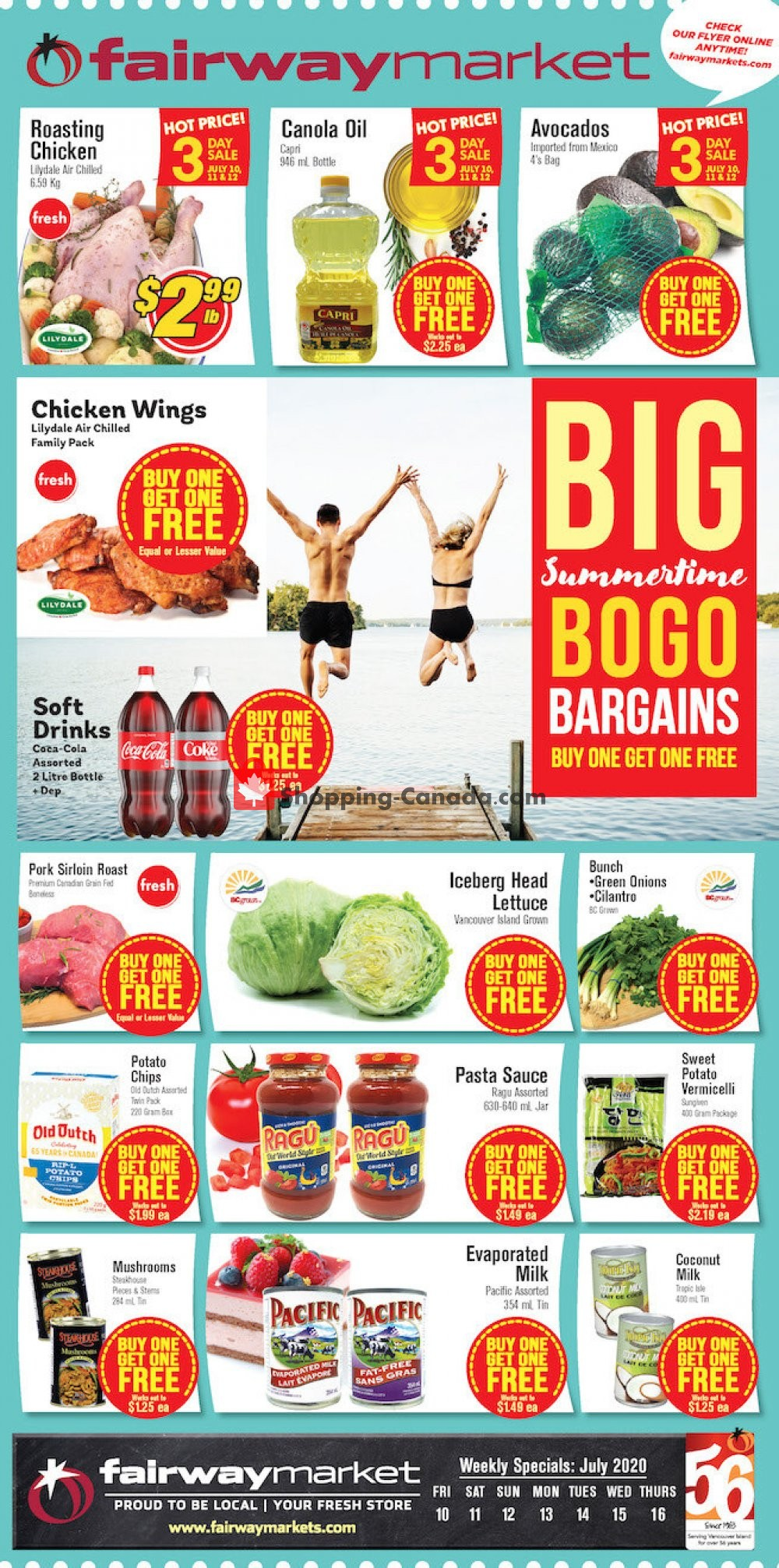 Flyer Fairway Market Canada - from Friday July 10, 2020 to Thursday July 16, 2020