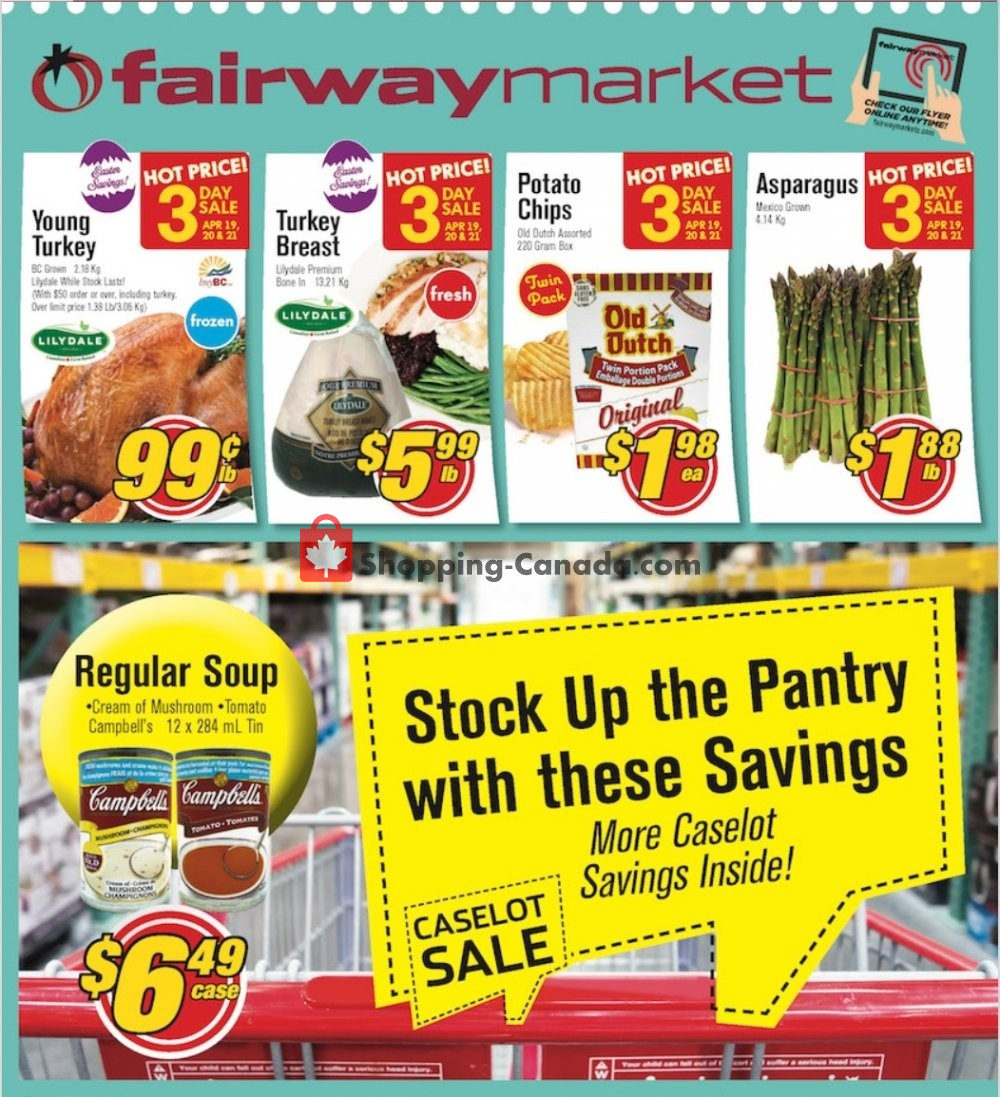 Flyer Fairway Market Canada - from Friday April 19, 2019 to Thursday April 25, 2019