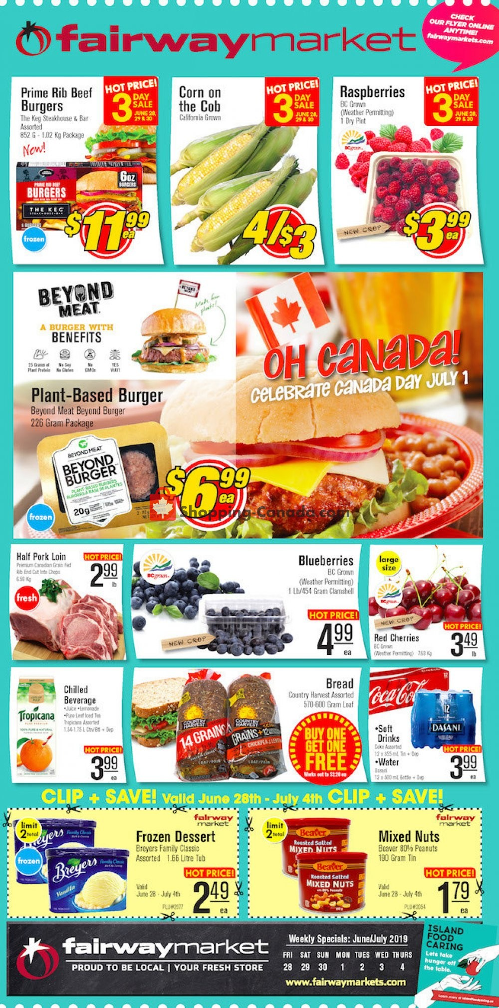 Flyer Fairway Market Canada - from Friday June 28, 2019 to Thursday July 4, 2019