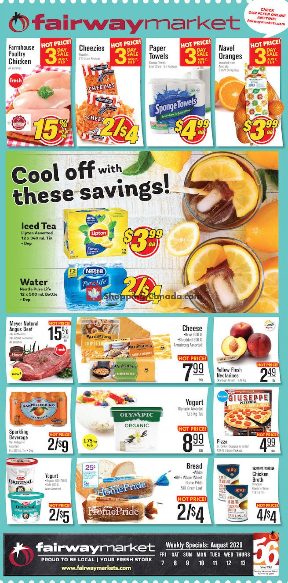 Flyer Fairway Market Canada - from Friday August 7, 2020 to Thursday August 13, 2020