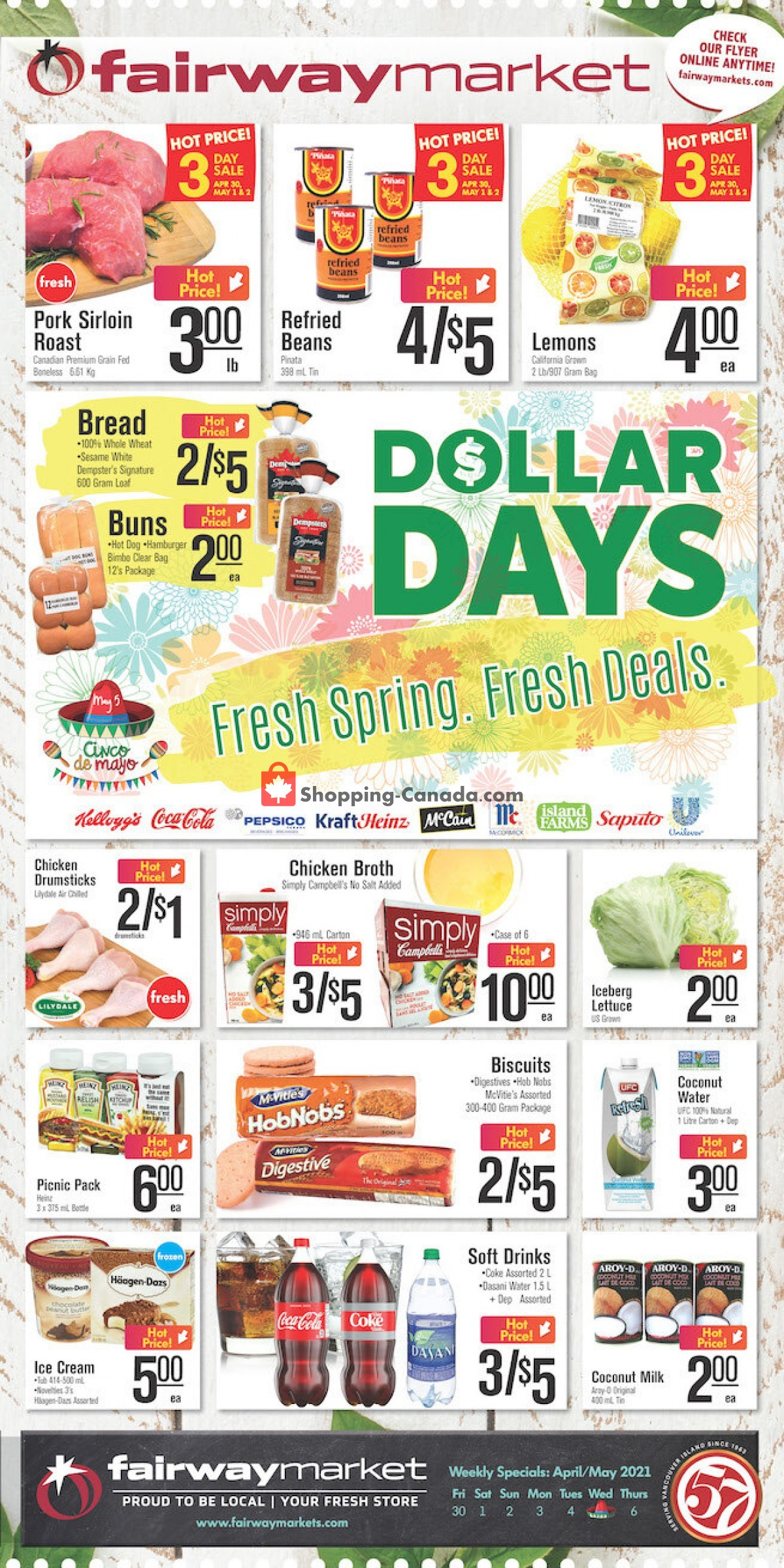 Flyer Fairway Market Canada - from Friday April 30, 2021 to Thursday May 6, 2021