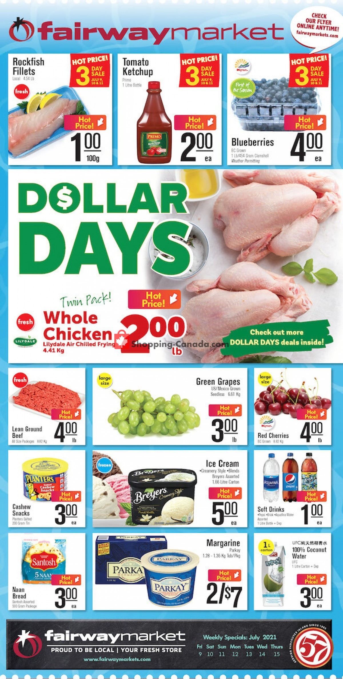Flyer Fairway Market Canada - from Friday July 9, 2021 to Thursday July 15, 2021