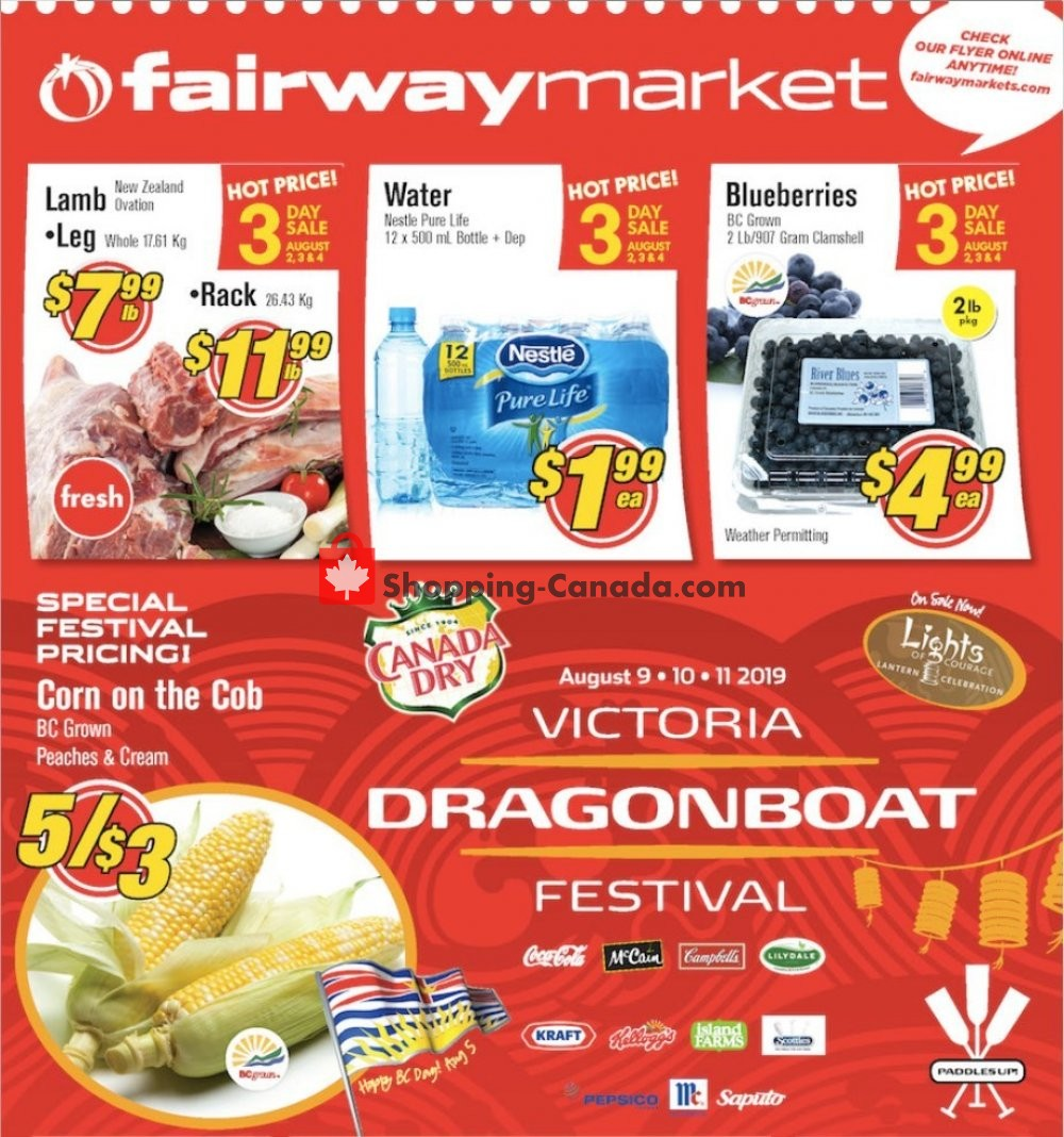 Flyer Fairway Market Canada - from Friday August 2, 2019 to Thursday August 8, 2019