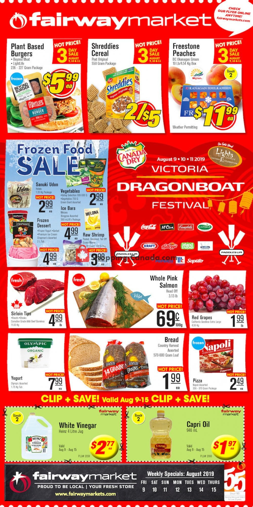 Flyer Fairway Market Canada - from Friday August 9, 2019 to Thursday August 15, 2019
