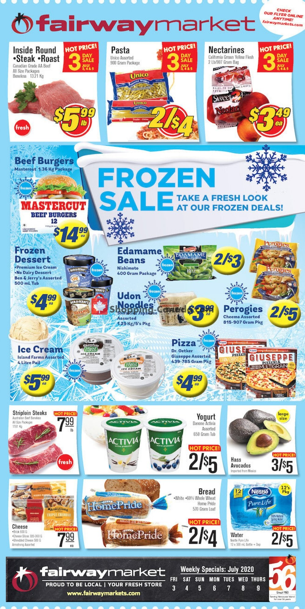 Flyer Fairway Market Canada - from Friday July 3, 2020 to Thursday July 9, 2020
