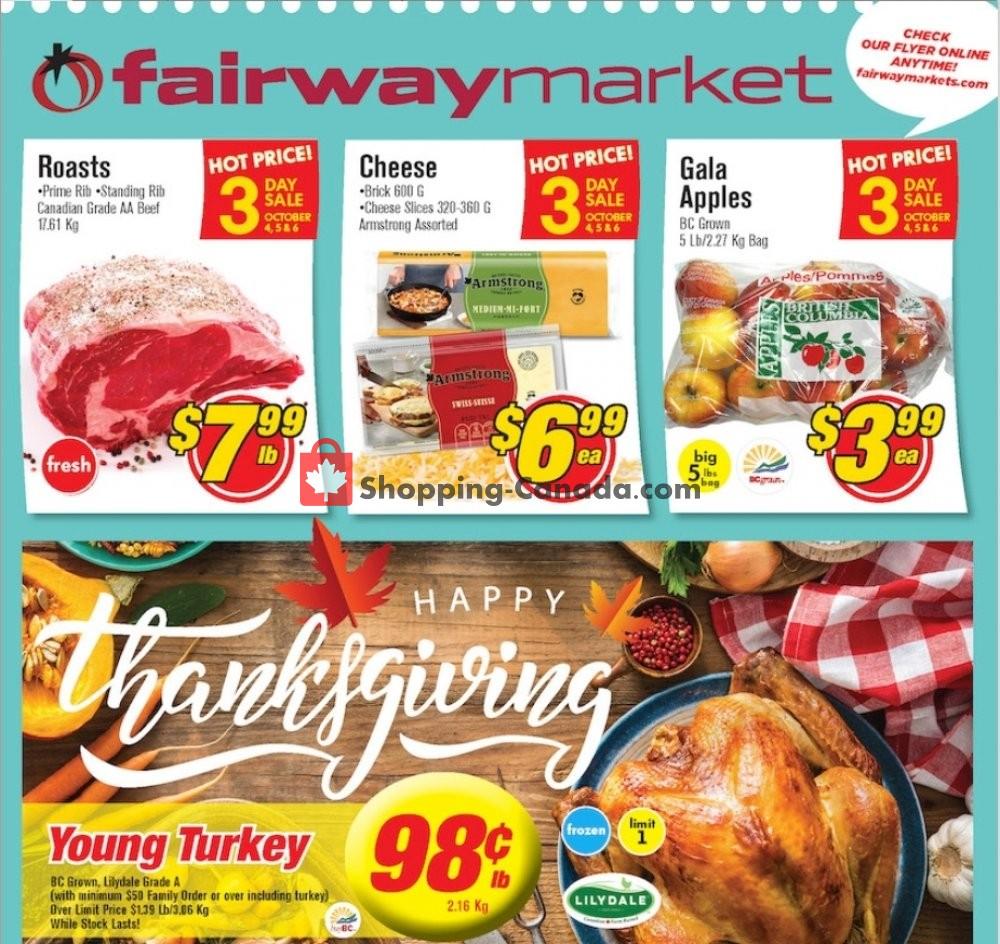Flyer Fairway Market Canada - from Friday October 4, 2019 to Thursday October 10, 2019
