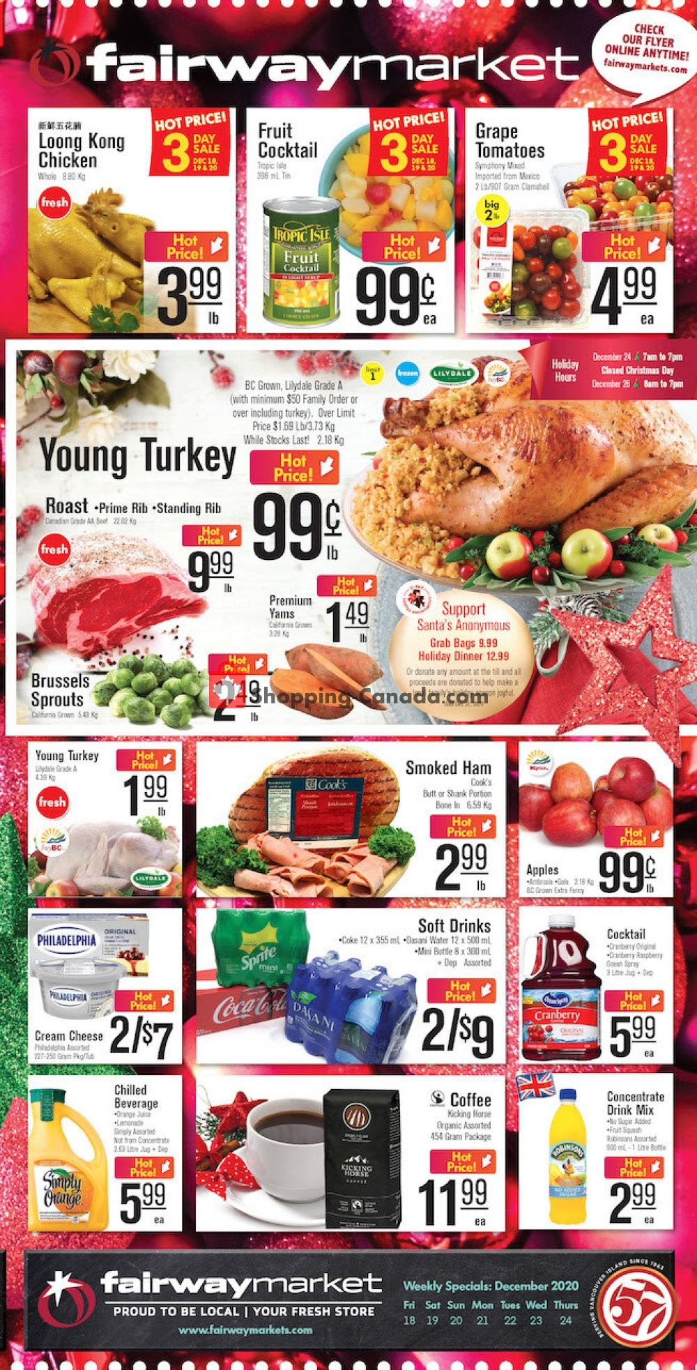 Flyer Fairway Market Canada - from Friday December 18, 2020 to Thursday December 24, 2020