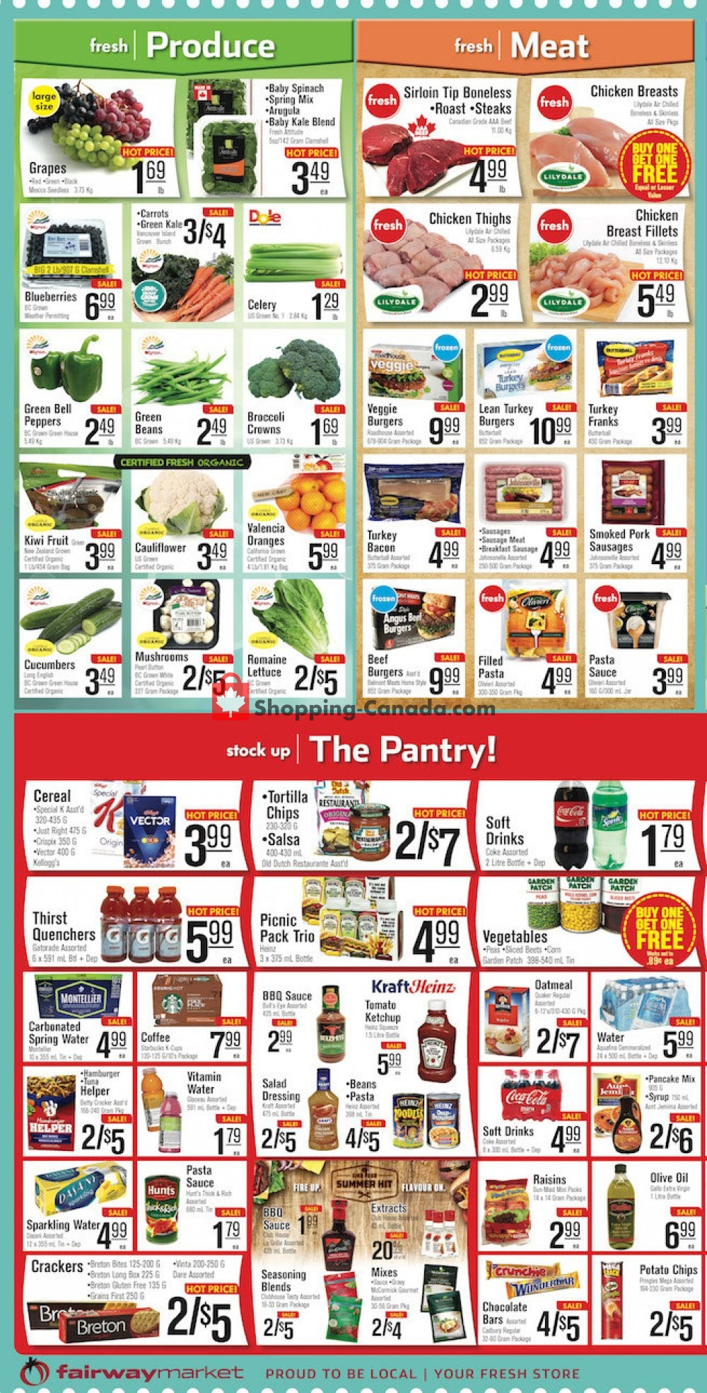 Flyer Fairway Market Canada - from Friday July 12, 2019 to Thursday July 18, 2019